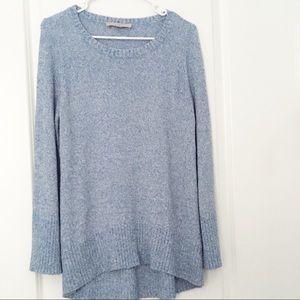 Ann Taylor LOFT Marled Blue Sweater Lightweight